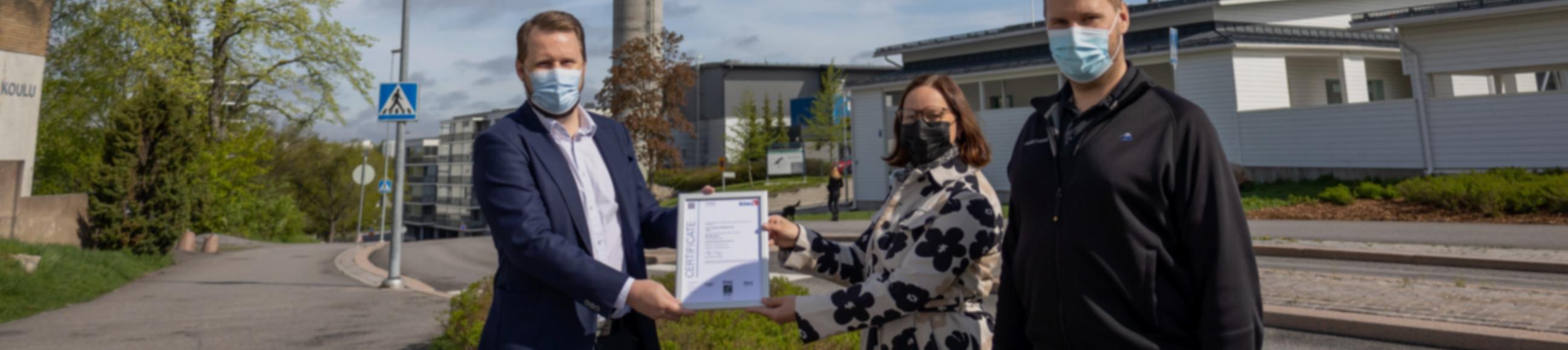 Laatujärjestelmämme on saanut ISO 9001:2015 sertifioinnin
